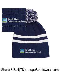 pom pom beanie with RRCT Logo Design Zoom