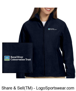 Women's Full zip fleece with RRCT logo Design Zoom