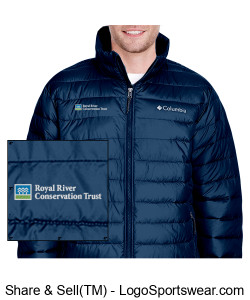 RRCT logo Columbia Sportswear puffy jacket Design Zoom