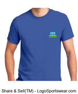 RRCT Logo Tee Blue Design Zoom