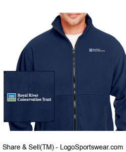 Men's Fleece RRCT Jacket with full zip Design Zoom