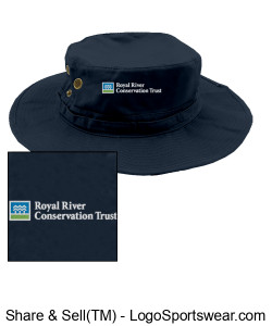 Safari sunhat with RRCT logo Design Zoom